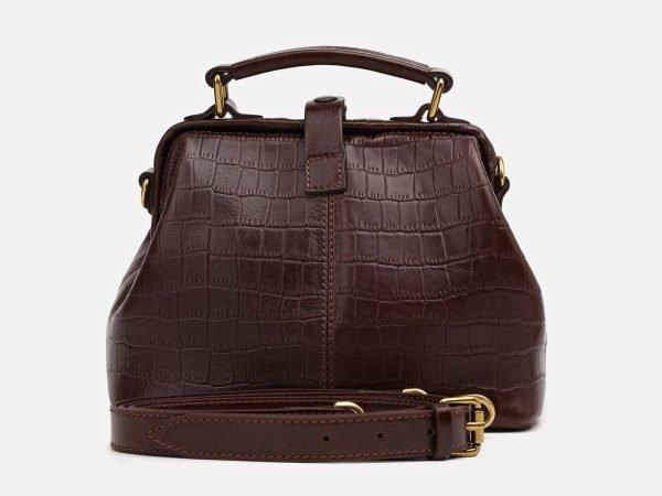 Кожаная коричневая женская сумка ATS-3826