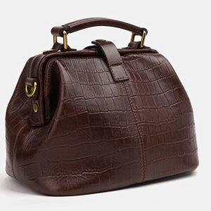 Кожаная коричневая женская сумка ATS-3826 211010