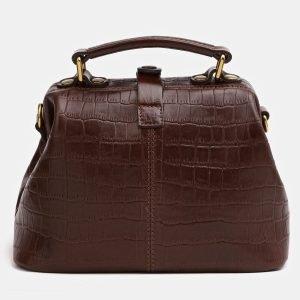 Кожаная коричневая женская сумка ATS-3826 211011