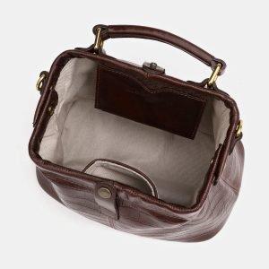 Кожаная коричневая женская сумка ATS-3826 211012