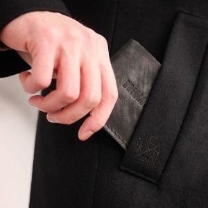 Уникальный черный мужской портмоне клатч BRL-7592 220604
