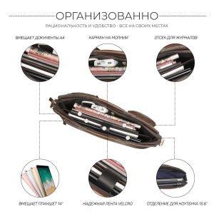 Неповторимая коричневая мужская сумка трансформер BRL-28427