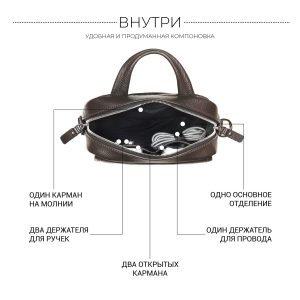 Модная коричневая мужская сумка через плечо BRL-34408 223393