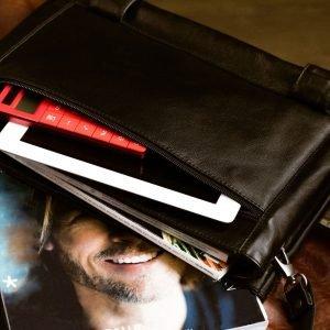 Удобная черная мужская сумка через плечо BRL-207 219860