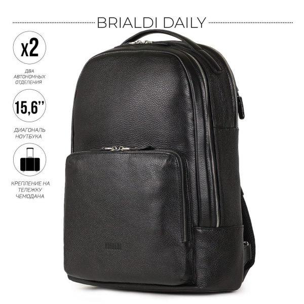 Уникальный черный мужской деловой рюкзак BRL-37166