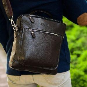 Стильная коричневая мужская сумка через плечо BRL-33395 222968