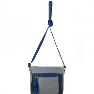 Стильная серая женская сумка через плечо FBR-899
