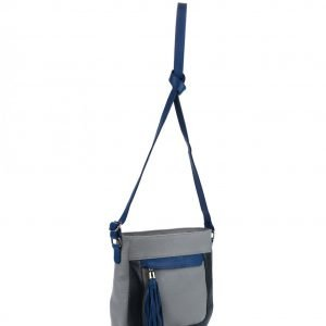Стильная серая женская сумка через плечо FBR-899 217866