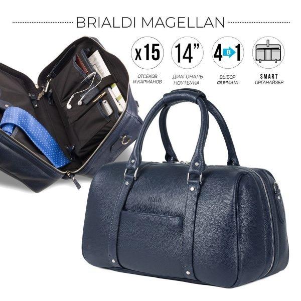 Удобная синяя сумка трансформер для командировок BRL-23332