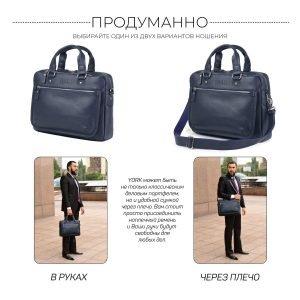 Функциональный синий мужской портфель деловой BRL-34108 223188