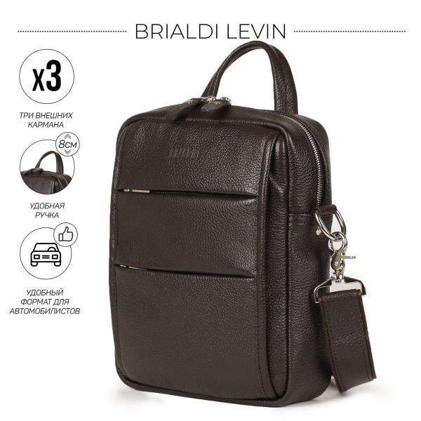 Модная коричневая мужская сумка через плечо BRL-34408