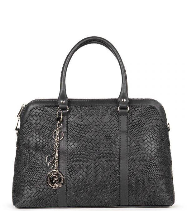 Солидная черная женская сумка FBR-2644