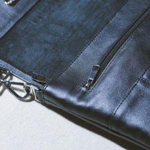 Вместительная черная мужская сумка BRL-27