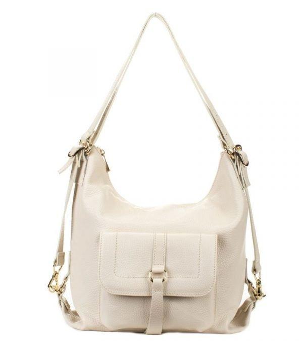 Удобная бежевая женская сумка FBR-2639