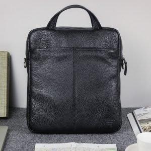 Кожаная черная мужская сумка через плечо BRL-33394 222953