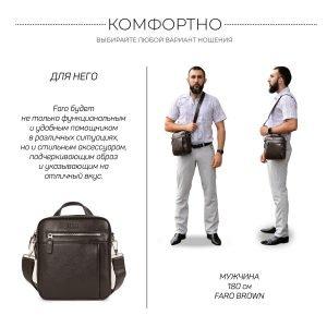 Неповторимая коричневая мужская сумка через плечо BRL-33398 223019