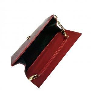 Уникальный красный женский клатч FBR-2356