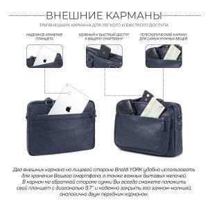 Функциональный синий мужской портфель деловой BRL-34108 223182