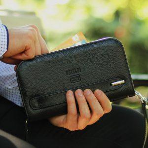 Удобная черная мужская сумка для мобильного телефона BRL-26738