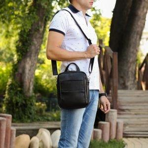 Функциональная черная мужская сумка через плечо BRL-34406 223381