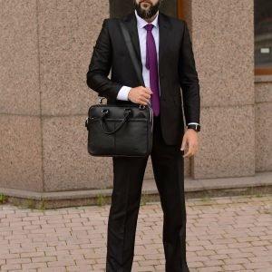 Неповторимая черная мужская кожгалантерея BRL-34088