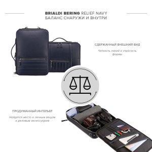 Уникальная синяя мужская сумка трансформер через плечо BRL-23146 221881