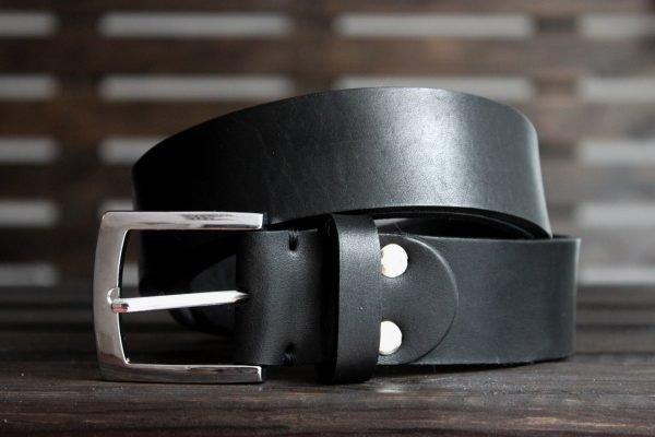 Солидный черный ремень BNZ-3367