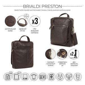 Стильная коричневая мужская сумка через плечо BRL-33395 222961
