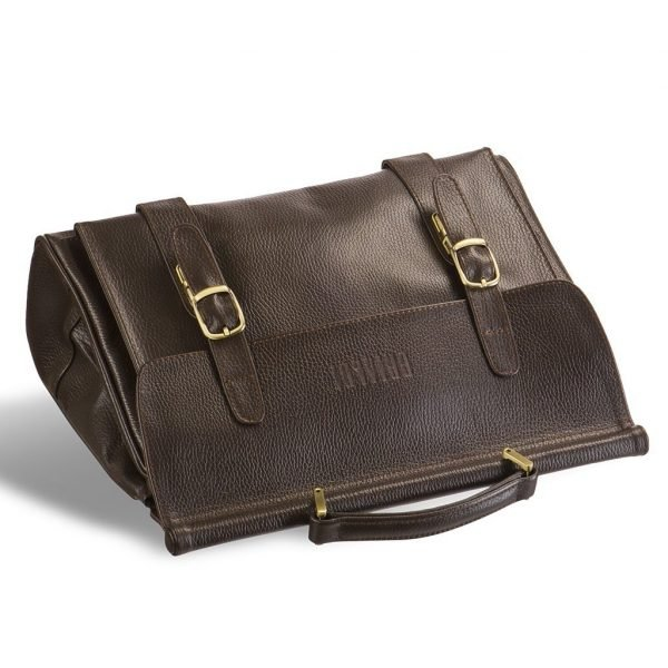Удобный коричневый мужской портфель для документов BRL-12039