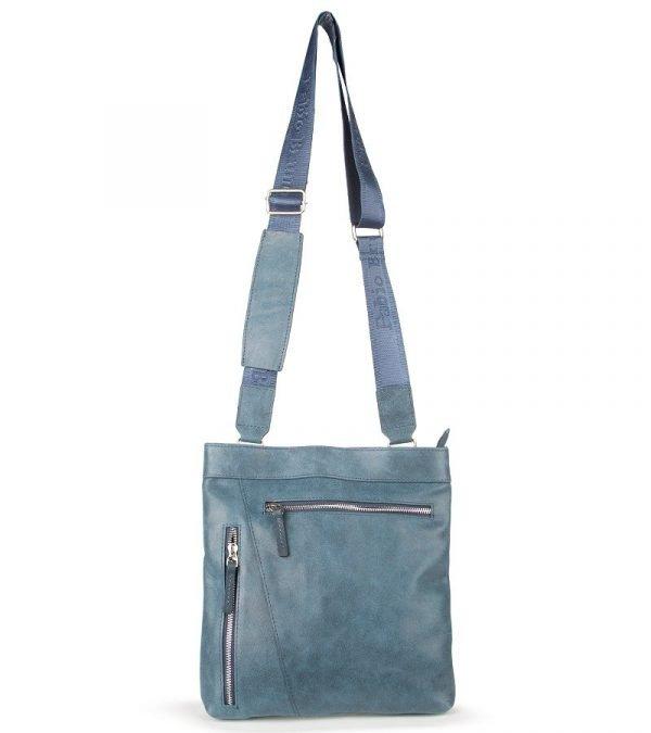 Вместительная синяя мужская сумка через плечо FBR-547