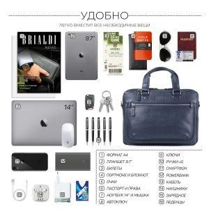 Функциональный синий мужской портфель деловой BRL-34108 223184