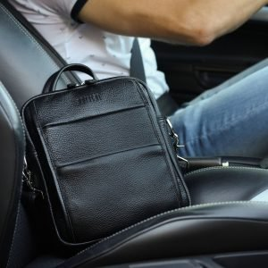 Функциональная черная мужская сумка через плечо BRL-34406 223367