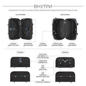 Удобная синяя сумка трансформер для командировок BRL-23332 222049