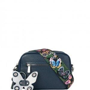 Функциональная синяя женская сумка через плечо FBR-2319