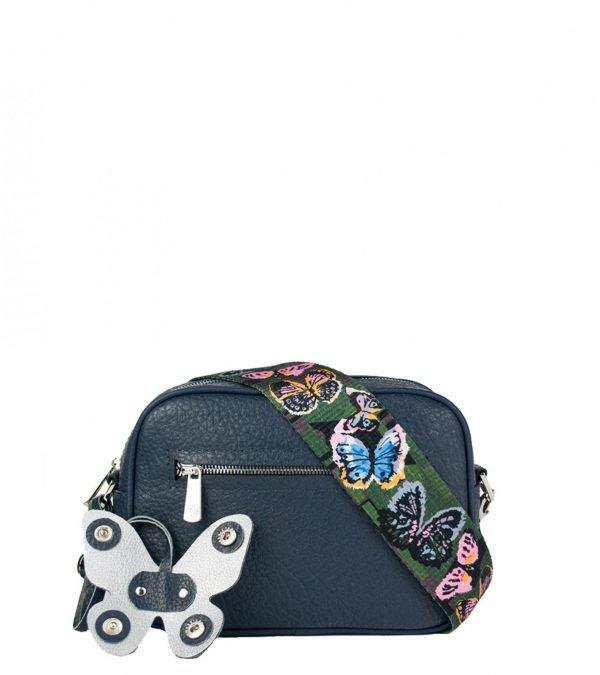 Деловая синяя женская сумка через плечо FBR-2319