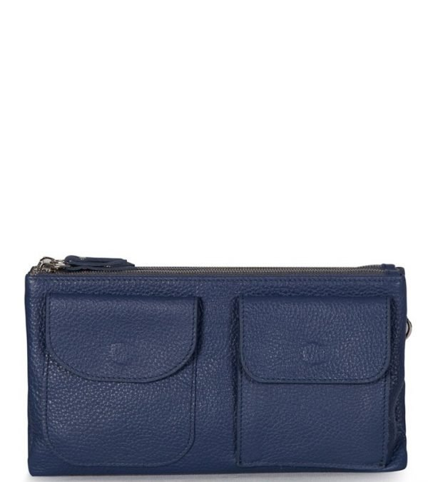 Деловая синяя женская сумка FBR-1103