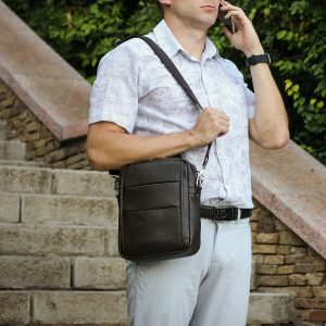 Модная коричневая мужская сумка через плечо BRL-34408 223398