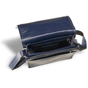 Кожаная синяя мужская сумка через плечо BRL-7393 220542
