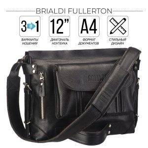 Стильная черная мужская сумка трансформер через плечо BRL-28404