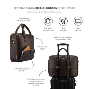 Удобная коричневая мужская сумка трансформер через плечо BRL-23167