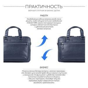 Функциональный синий мужской портфель деловой BRL-34108 223186