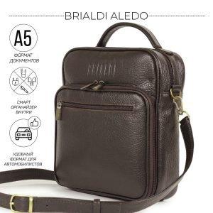 Деловая коричневая мужская сумка через плечо BRL-12937