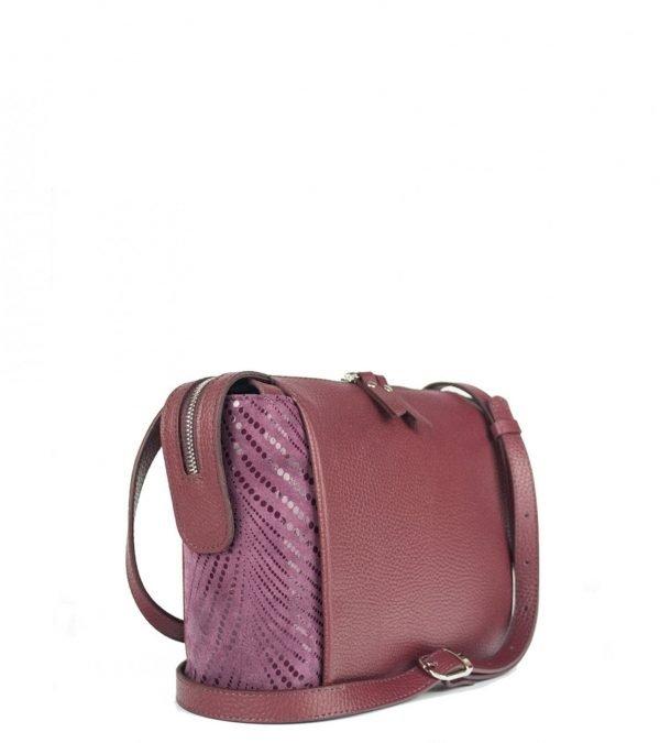 Удобная бордовая женская сумка через плечо FBR-2477