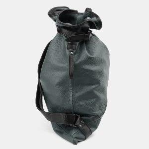 Деловой зеленый рюкзак кожаный ATS-3862 210842