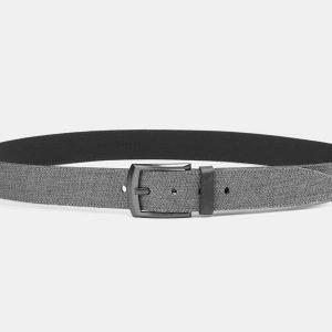 Неповторимый серый мужской джинсовый ремень ATS-3941