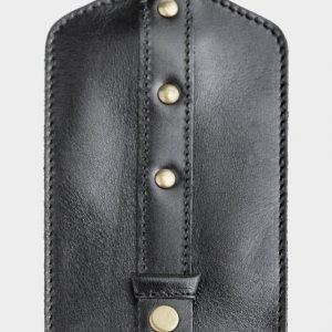 Кожаная черная ключница ATS-116