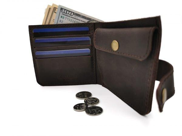 Модный коричневый кошелек BNZ-3685