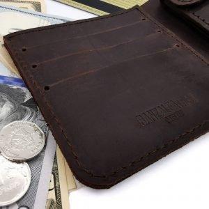 Модный коричневый кошелек BNZ-3685 219244