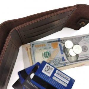 Неповторимый коричневый кошелек BNZ-253 219657