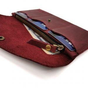 Кожаный синий кошелек BNZ-373